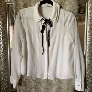S white Zara blouse